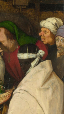 Pieter Bruegel The Elder. The adoration of the Magi. Fragment 4