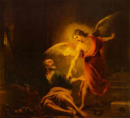 Bartolomé Esteban Murillo. Angel rescues St. Peter from prison
