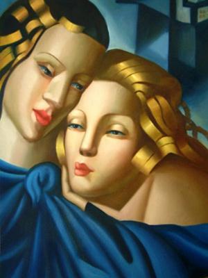 Tamara Lempicka. Blue-eyed beauty