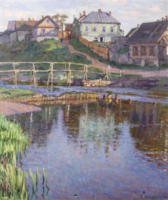 Nikolay Petrovich Bogdanov-Belsky. Rural landscape