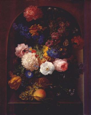 Дрекслер. Букет с цветами в вазе