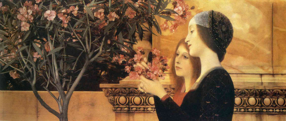Gustav Klimt. Two girls with oleander