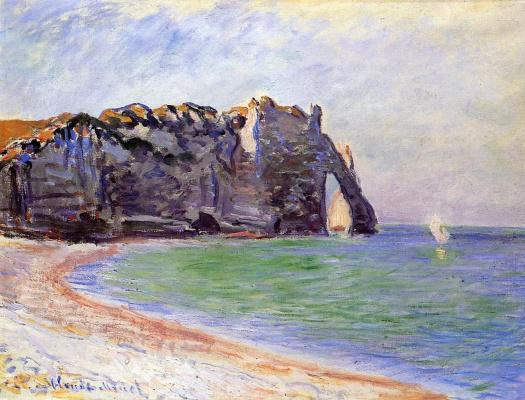 Claude Monet. Manneport, Etretat. Port d Aval