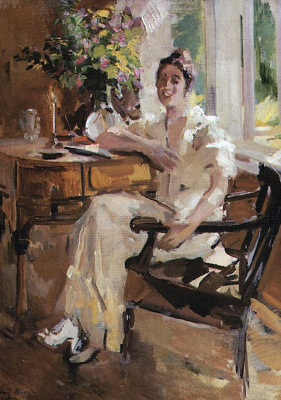 Konstantin Korovin. The lady in the chair