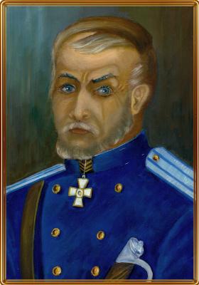 Vladimir Pavlovich Parkin. Портрет полковника Дзебоева.