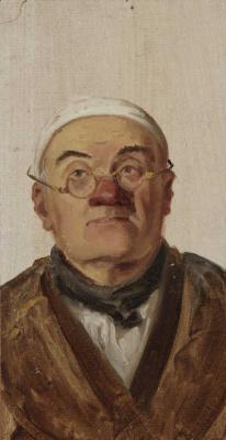 """Карл Шпицвег. Портрет мужчины. Этюд для картины """"Бедный поэт"""""""