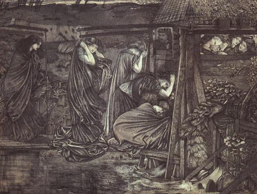 Edward Coley Burne-Jones. Wise and foolish virgins