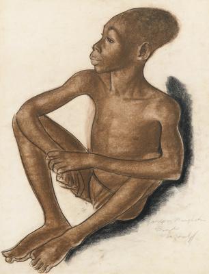 Александр Евгеньевич Яковлев. Портрет мальчика Мангбету. 1925