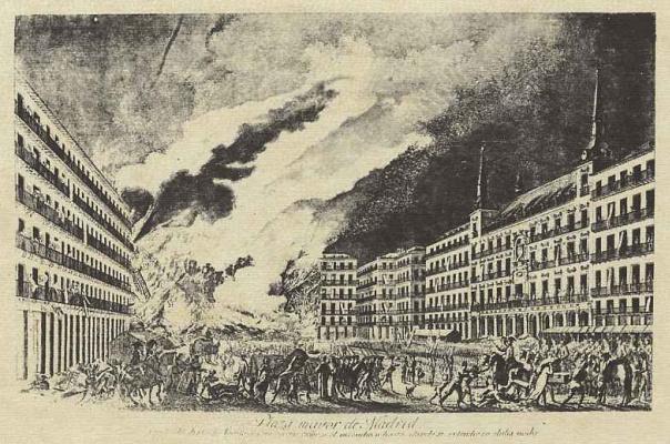 Хосе Ксимено. Пожар в Мадриде