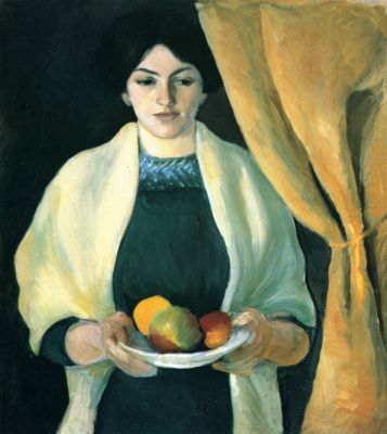 August Macke. Portrait of the artist's wife