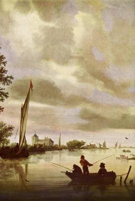 Саломон Якобс ван Рейсдал. Речной пейзаж