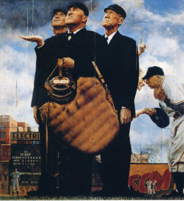 Norman Rockwell. Three judges