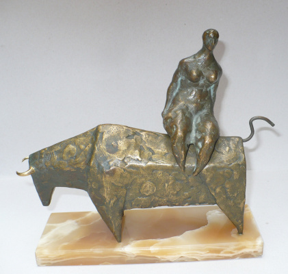 David Oganesian. The rape of Europa (bronze, onyx)