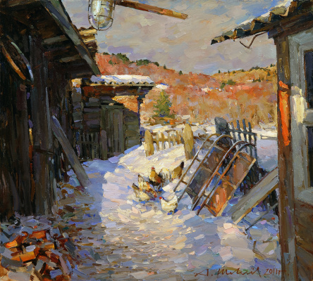 Alexander Victorovich Shevelyov. Patio. Oil on canvas 45,5 x 50,5 cm 2011