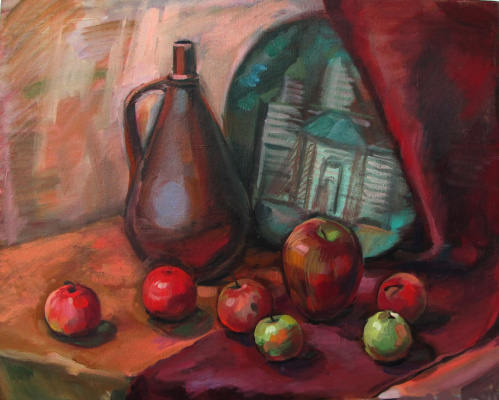Dariya Zakharova. Still life with apples