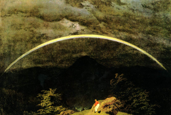 Caspar David Friedrich. Mountain landscape with a rainbow