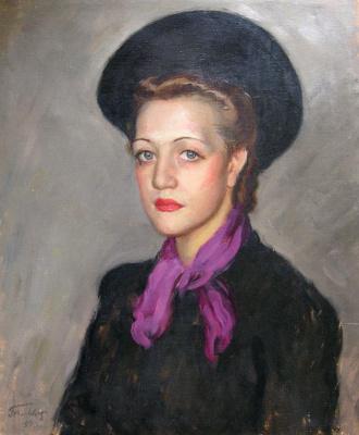 Леонид Исаакович Фрешкоп. Женский портрет. 1939