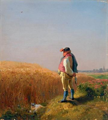 Карл Шпицвег. Фермер у поля в Верхней Баварии