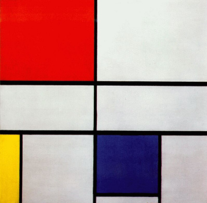 Piet Mondrian. Composition No. 3 with red, yellow and blue