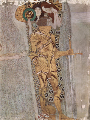 Gustav Klimt. Beethoven Frieze: Well armed - Force, Ambition, Sostadanie (Fragment)