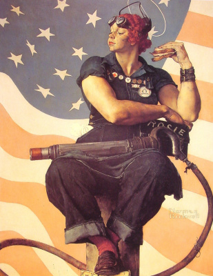 Norman Rockwell. Rosie the Riveter