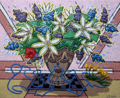 Yuri Vladimirovich Sizonenko. A vase of flowers.