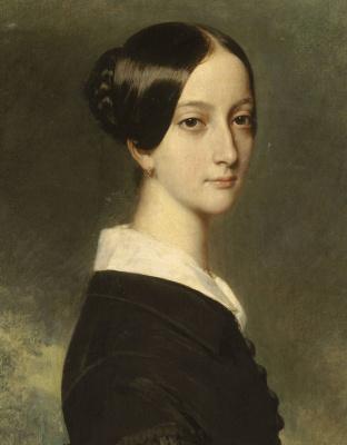 Franz Xaver Winterhalter. Portrait of Francisco Brazilian Princess Joinville. Fragment
