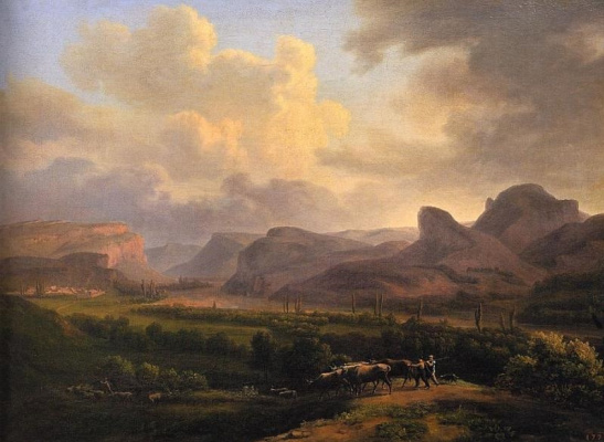 Jacques Christoph Myville. View of the Karadag Valley