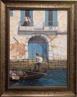 Aram Marinosyan. Venice Flower Merchant