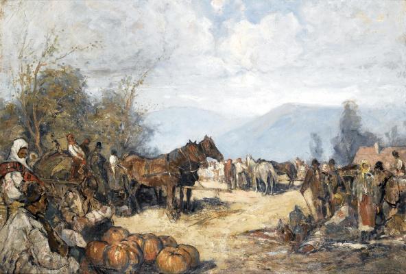 Alexey Vladimirovich Isupov. Caucasian bivouac.