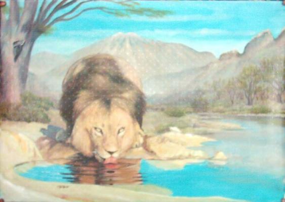 AbdulSalam. Drinking Lion