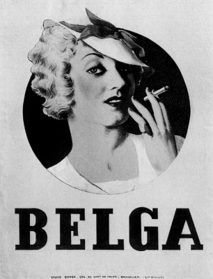 René Magritte. Advertising poster for cigarettes Belga