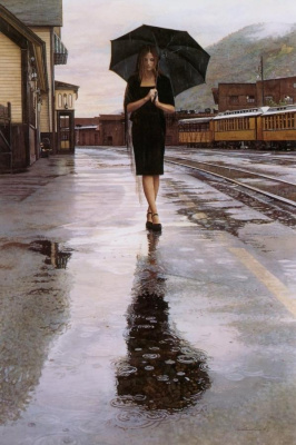 Steve Hanks. Walk under the umbrella