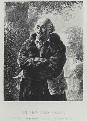 Adolf Friedrich Erdmann von Menzel. The Writer William Shakespeare
