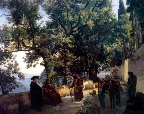 Sylvester Feodosievich Shchedrin. Terrace by the sea. Cappuccini near Sorrento