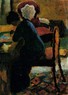 Elizabeth at the Desk