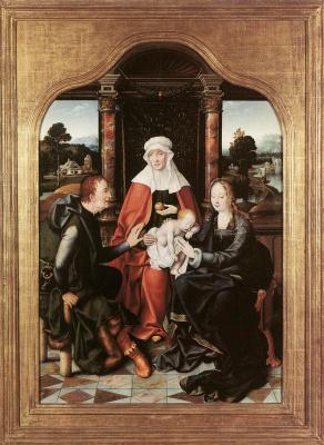Йос ван Клеве. Св. Анна, Мадонна с младенцем и Св. Иоахим