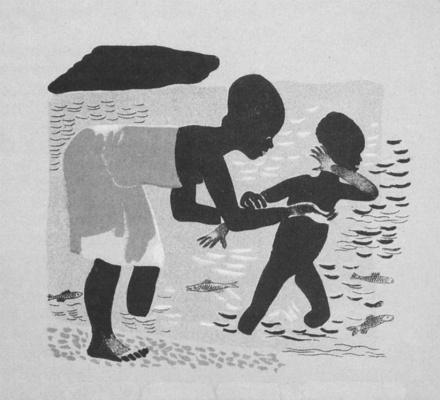 Александр Александрович Дейнека. Отчего Джани удрал и вернулся. Иллюстрация из журнала «Искорка» (1929. № 4)