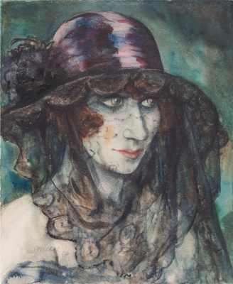 Otto Griebel. Woman with Veil