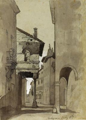 Джон Рёскин. Улица в Болонье