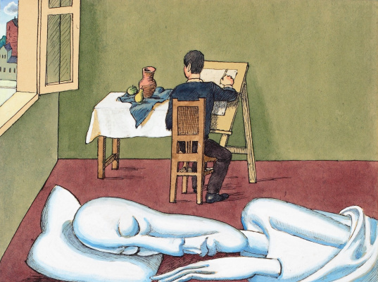 "Victor Dmitrievich Pivovarov. Sunday drawing. Cycle ""actors"""