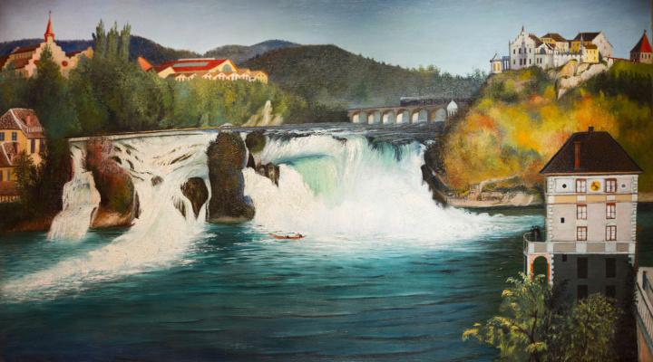 Tivadar Kostka Chontvari. Schaffhausen Falls