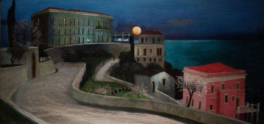 Tivadar Kostka Chontvari. Full Moon over Taormina