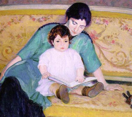 Бернард Гутман. Мать учит ребенка чтению