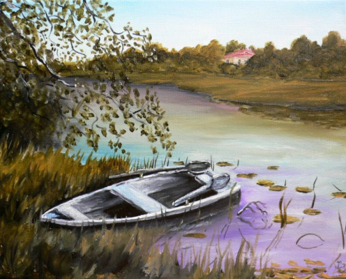 Сергей Николаевич Ходоренко-Затонский. Boat