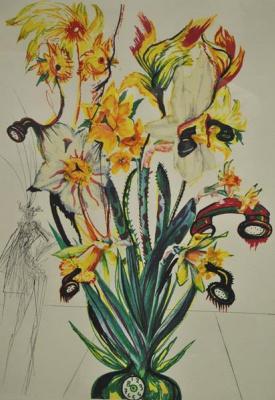 Salvador Dali. Daffodils and phones