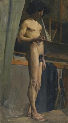 Giovanni Giacometti. A standing Nude male