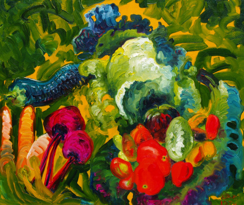 Alexander Ocher Kandinsky-DAE. Vegetables carrots, cabbage, tomatoes, beets, potatoes