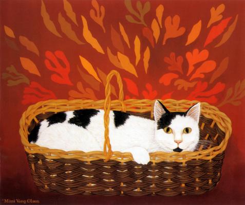 Мими Ванг Олсен. Кот в корзине