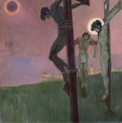 Egon Schiele. The crucifixion with the Eclipse of the sun